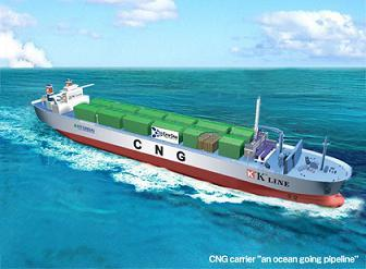 CNG ship at sea