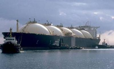 LNG carrier at manouvering