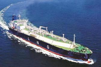 LNG tanker at sea