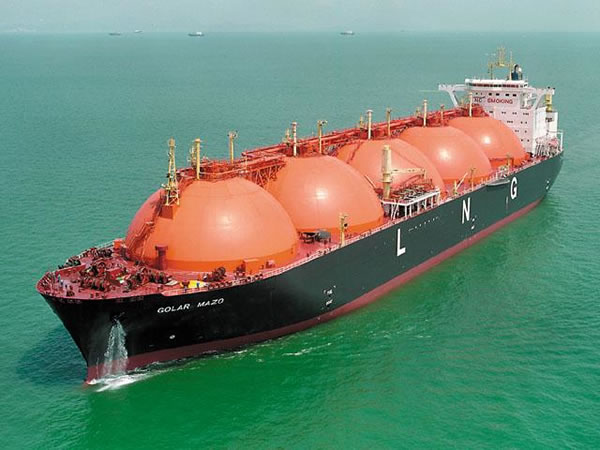 LNG ship underway
