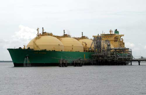 LNG carrier underway